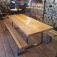 Baltic Pine Dining Table + Benches